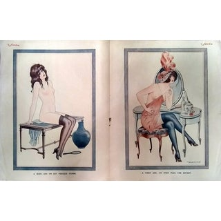 "Maurice Pepin 1920 ""16 & 20"" Le Sourire Print"