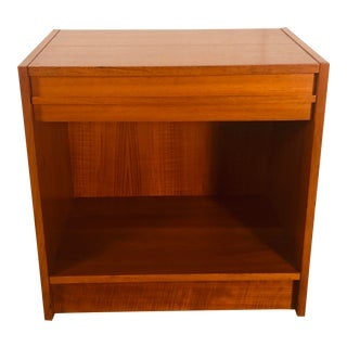 Danish Teak Single Drawer Nightstand For Sale