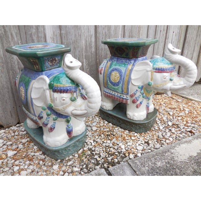 Vintage Elephant Garden Stool - Pair - Image 3 of 7