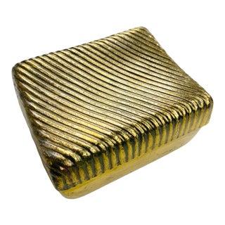1950s Ben Seibel Mid Century Brass Lidded Box For Sale