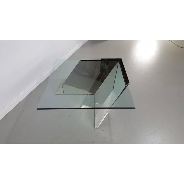 Brueton J. Wade Beam Cantilevered Stainless Steel Coffee Table For Sale In Philadelphia - Image 6 of 6