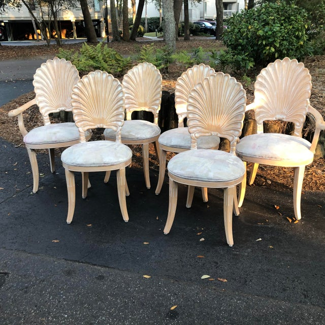 Vintage Clam Shell Grotto Chairs - Set of 6 For Sale - Image 4 of 11