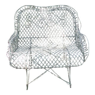 19th Century French Wire Settee For Sale