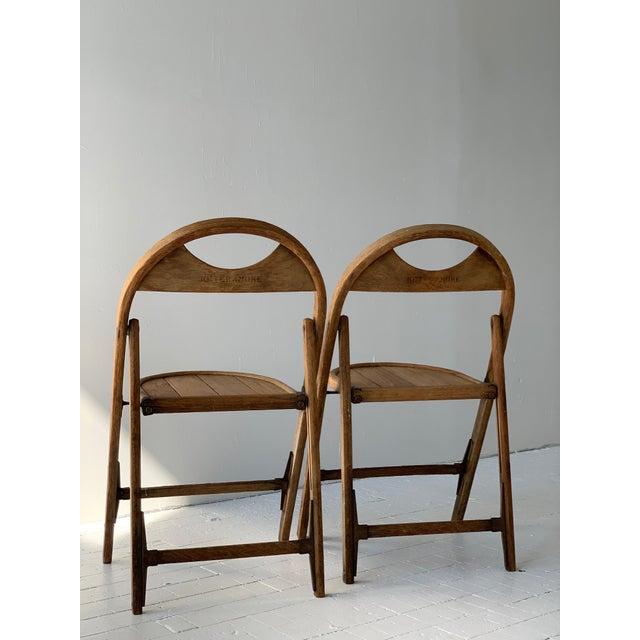 Bauhaus 1930s Bauhaus Bent Wood Folding Chairs - a Pair For Sale - Image 4 of 13