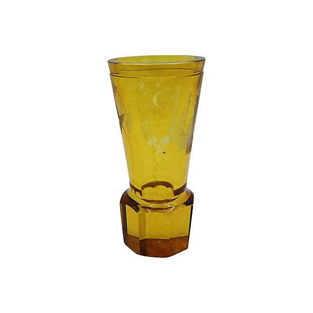 Antique Masonic Cut Glass Bud Vase For Sale In Los Angeles - Image 6 of 7