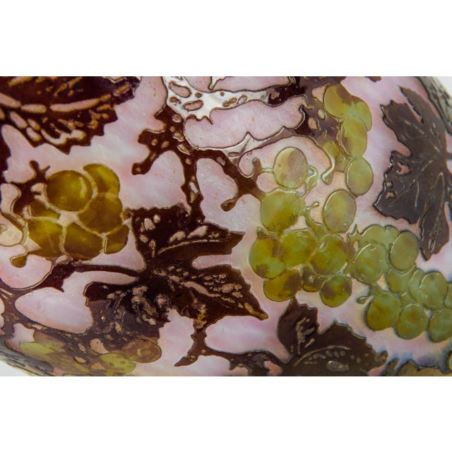 White Vintage Art Glass Decorative Vase For Sale - Image 8 of 10
