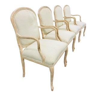 Vintage Serge Roche Faux Bois Arm Chairs For Sale