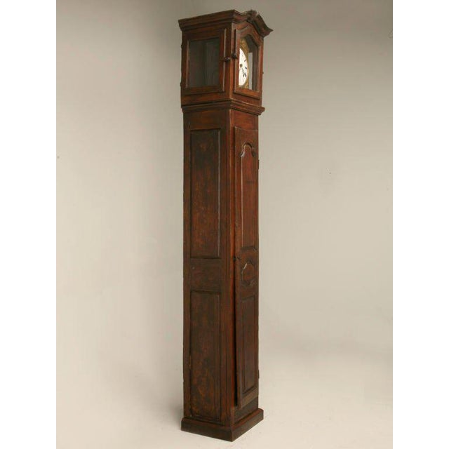 Glass C1820 French Antique Tall Case Clock For Sale - Image 7 of 10