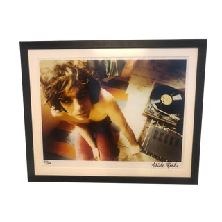 Framed Mick Rock Photograph Syd Barrett Pink Floyd 1971 Signed Certificate of Authenticity For Sale