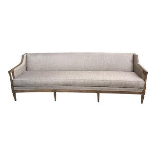 Vintage Mid Century Tan Sofa For Sale