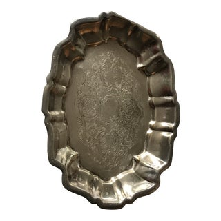 Vintage Silver Plated Footed Candy/Soap Dish For Sale