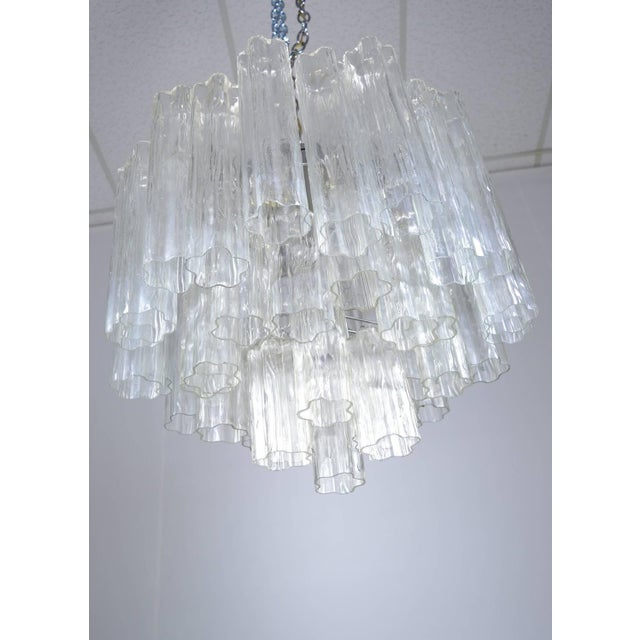 Murano Glass Tronchi Chandelier For Sale - Image 4 of 9