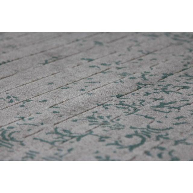 Teal Distressed Rug - Image 2 of 4