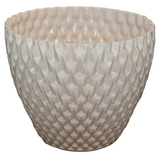 Large White Glazed Phoenix Planter by David Cressey For Sale