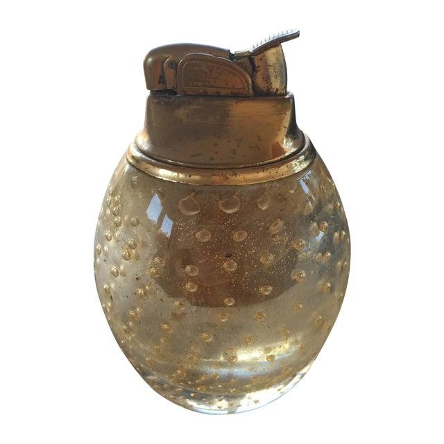 Vintage Murano Glass Gold Lighter For Sale