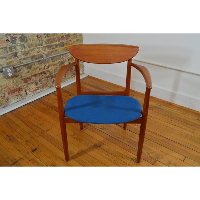 Danish Modern Peter Hvidt & Helge Molgaard Nielsen Danish Teak Arm Chair For Sale - Image 3 of 5