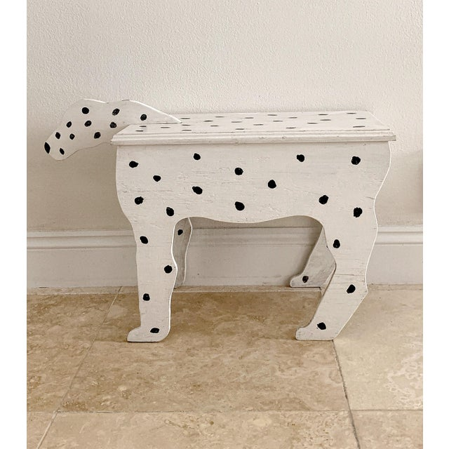1970s Dalmatian Dog Wooden Table - Handmade For Sale - Image 13 of 13