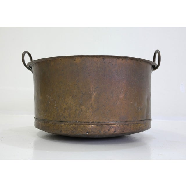 Danish Large Antique Copper Pot From 1960 - Image 5 of 7
