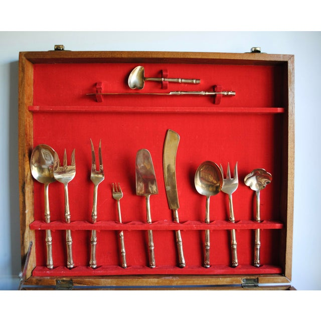 Mid-Century Bronze Flatware Set, 142 Pieces (Service for 12) - Image 5 of 8