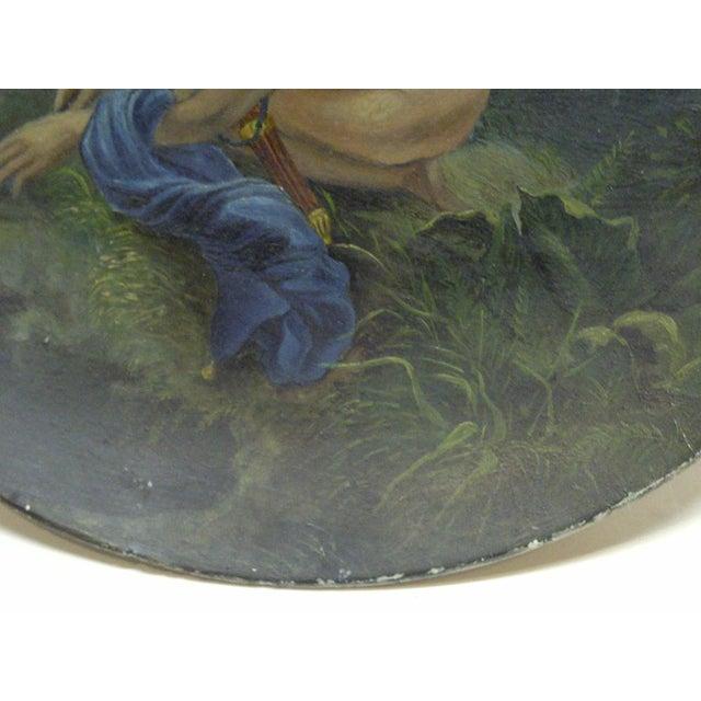 "1890 Vintage ""Little Angel"" Decorative Plate For Sale - Image 4 of 6"