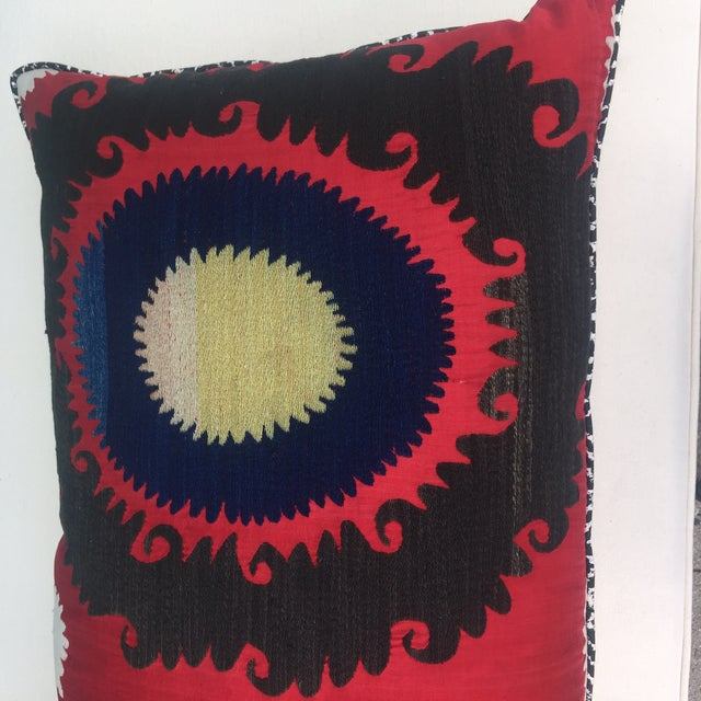 Handmade Silk Suzani Pillow - Image 3 of 5