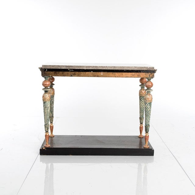 Gustavian (Swedish) Late-Gustavian Console Table For Sale - Image 3 of 5