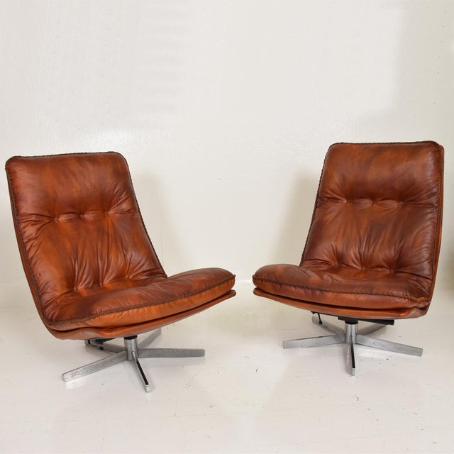 Mid Century Modern Pair of James Bond Arm Chairs by De Sede, Model S 231 For Sale - Image 11 of 11