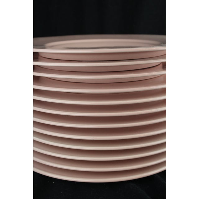 Ceramic Mid 20th Century Rose Pink Mikasa Chargers - Set of 12 For Sale - Image 7 of 9