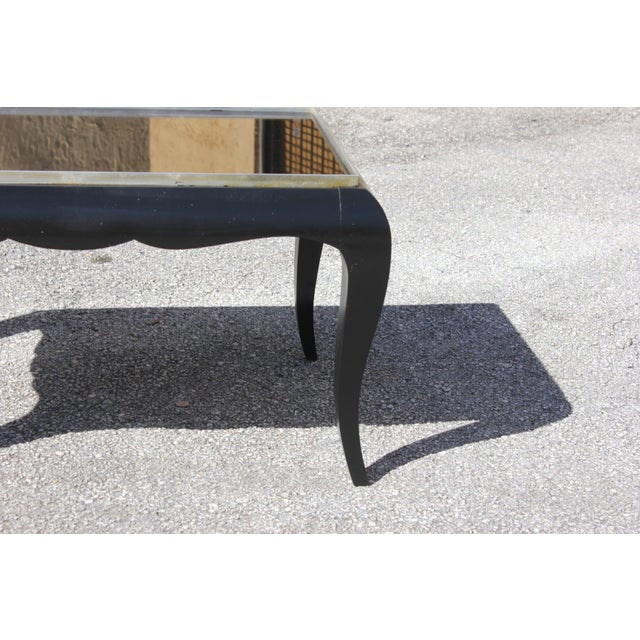 Metal 1940s French Art Deco Ebonized Coffee Table For Sale - Image 7 of 13