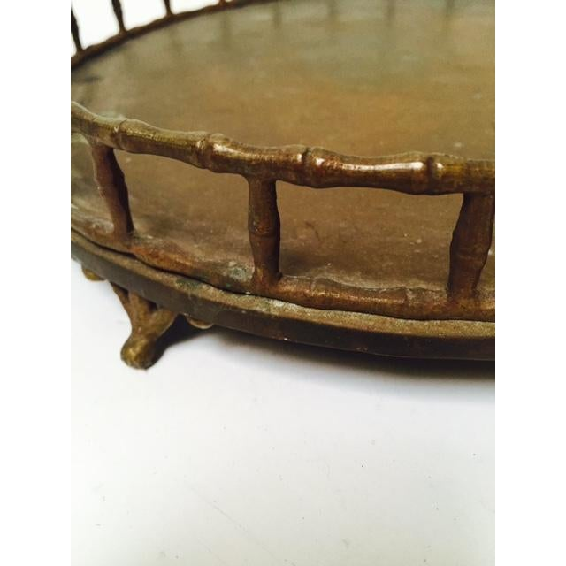 Boho Chic Bamboo Edge Brass Tray - Image 3 of 5