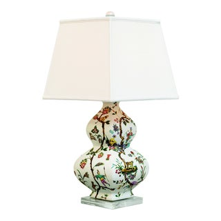 "Chinoise Exotique Lamp-- Square Shade 31""h For Sale"