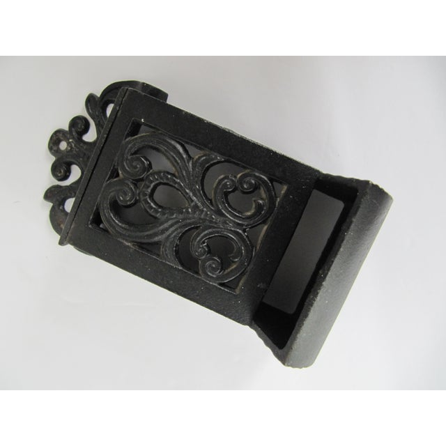 English Black Cast Iron Match Safe For Sale - Image 3 of 5