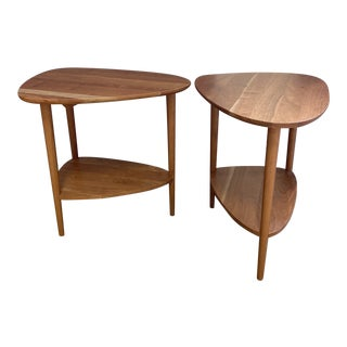 Room & Board Gibson Cherry End Tables - a Pair For Sale