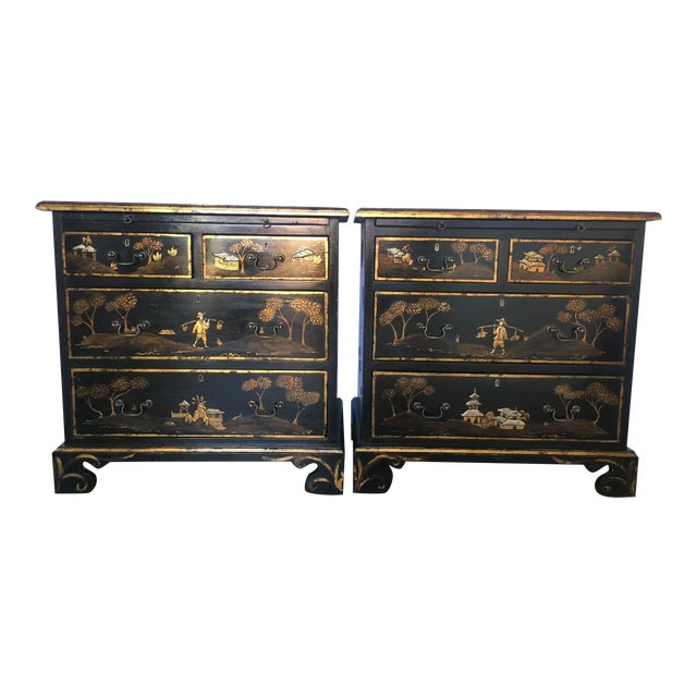 Tete De Negre Chinoiserie Bedside Chest (Pair) - Image 2 of 11