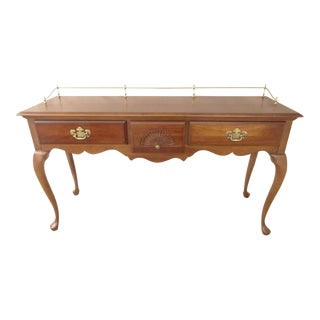 American Drew Cherry Queen Anne Sofa Hall Foyer Table Console