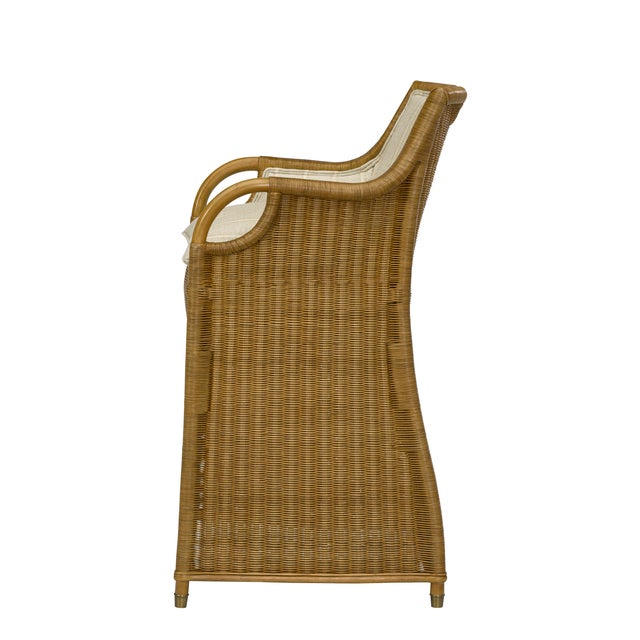 Ralph Lauren Ralph Lauren Jamaica Wicker Bar Stool For Sale - Image 4 of 5