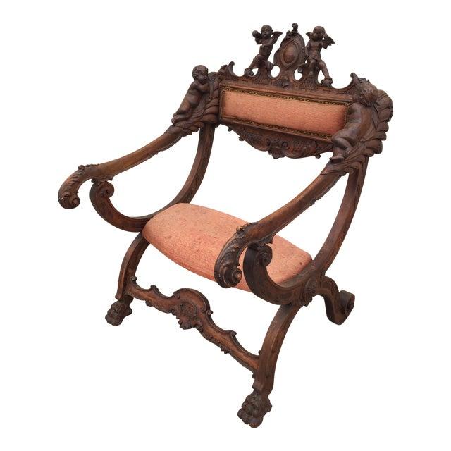 Antique Italian Savonarola Chair - Image 1 of 9
