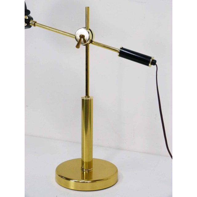 Brass Orb Ball Articulating Desk Lamp - Image 6 of 9