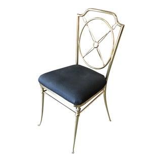 Vintage Mid Century Brass Chiavari Style Chair For Sale