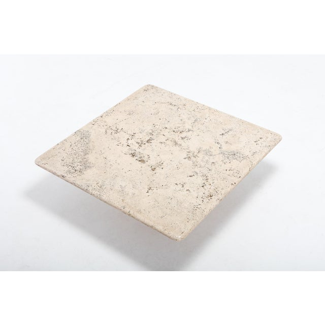 Coffee Mangiarotti Square Travertine Coffee Table for Up & Up For Sale - Image 8 of 9