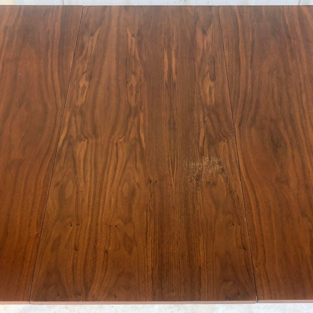 Mid-Century Modern Dining Room Table With Leaf For Sale - Image 11 of 13