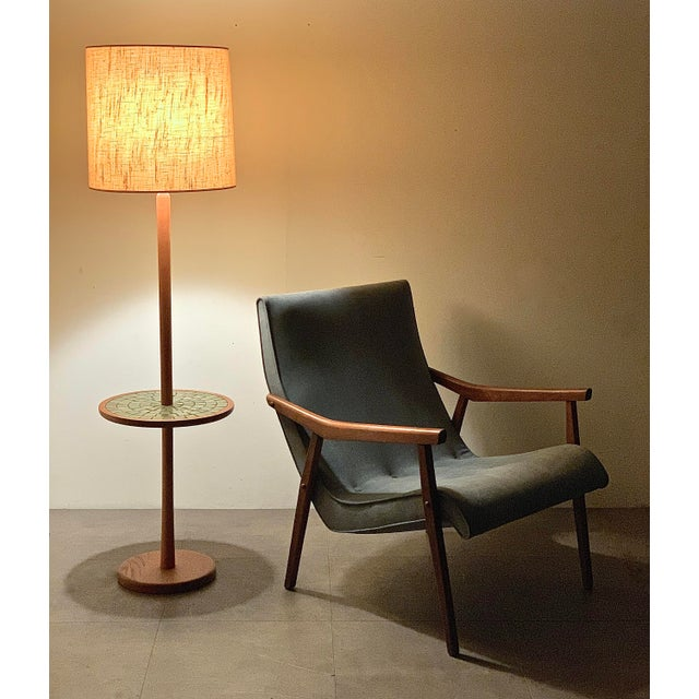 Textile Milo Baughman for Thayer Coggin Walnut Lounge Chair, 1950's For Sale - Image 7 of 9