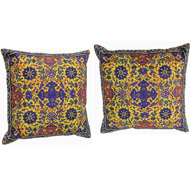 Textile Decorative Persian Accent Pillows - A Pair For Sale - Image 7 of 7