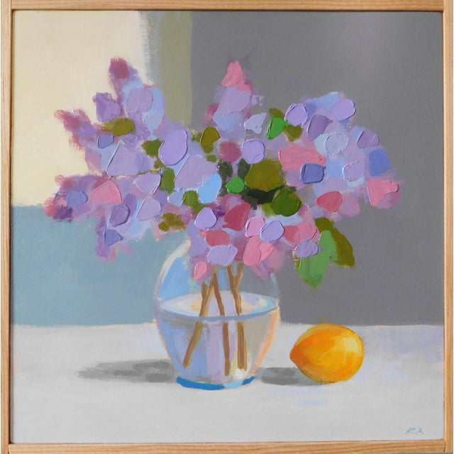 Lilac With a Lemon by Anne Carrozza Remick For Sale In Providence - Image 6 of 6
