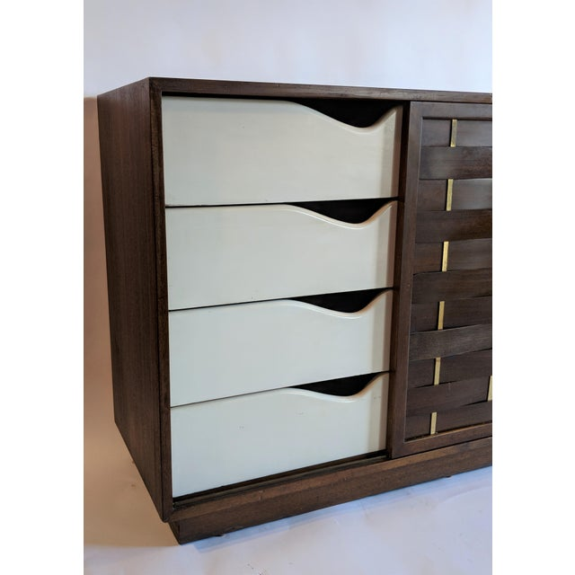 Harvey Probber Woven Front Credenza Sideboard - Image 6 of 10