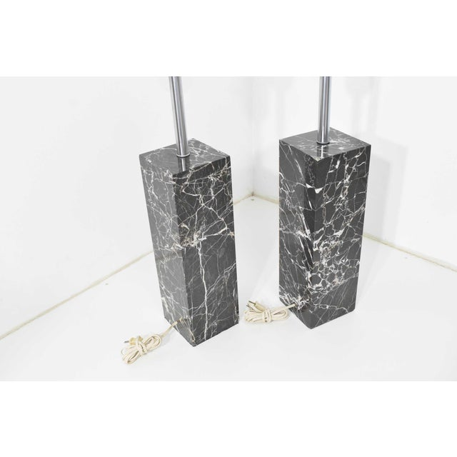 Contemporary Marble Table Lamps by Nessen Studio - a Pair For Sale - Image 3 of 12
