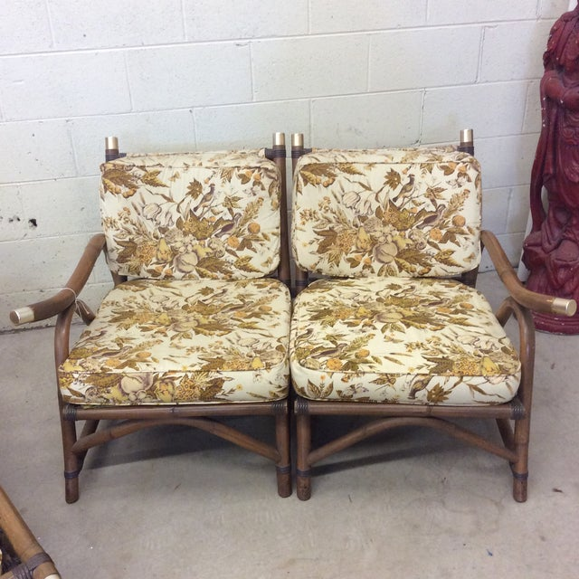 McGuire Style Bamboo Patio Set For Sale In Richmond - Image 6 of 13