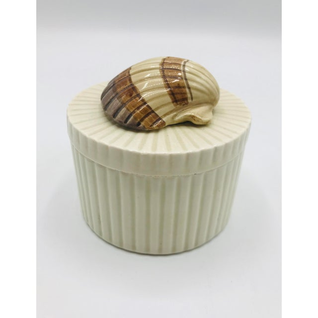 Contemporary Fitz and Floyd Seashell Lidded Box For Sale - Image 3 of 7