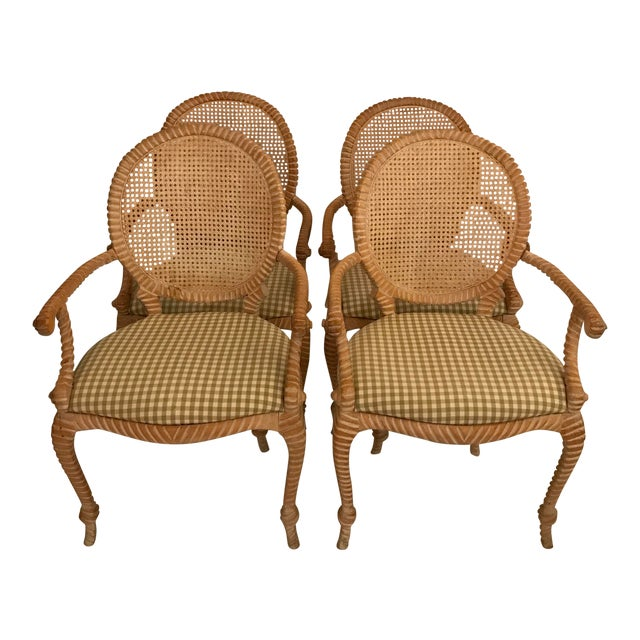 S/4 Andre Rope and Tassel Dining Chairs For Sale