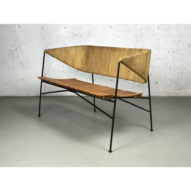 Modernist Settee by Arthur Umanoff for Shaver Howard & Raymor Loveseat Bench Sofa Couch For Sale - Image 11 of 13